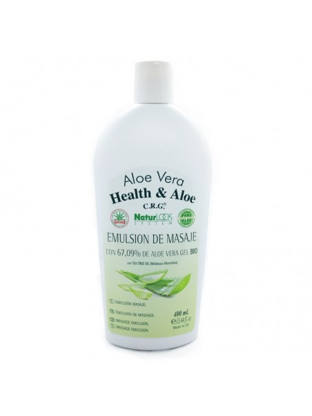 Health & Aloe Aloe Vera NaturLock System Emulsión de masaje con 67,09% de gel de aloe vera