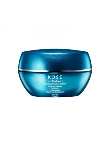 Kose Cell Radiance With Rice Powertm Extract Replenish & Renew Day Cream