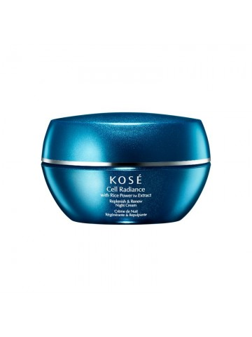 Kose  Cell Radiance  With  Rice Powertm Extract  Replenish & Renew  Night Cream