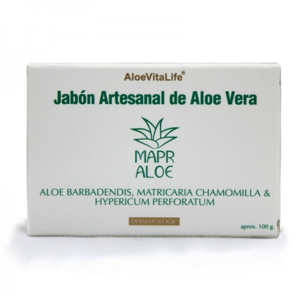 Mapr Aloe AloeVitaLife Crafted Aloe Vera Soap Aloe Barbadendis, Matricaria Chamomilla & Hypericum Perforatum