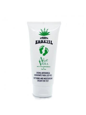 Errezil Aloe Vera Crema Antidureza Hidratante para los Pies 100% Puro Barbadensis & Tea Tree