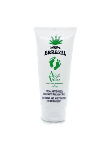 Errezil Aloe Vera Moisturizing Anti-Hardness Cream for Feet 100% Pure Barbadensis & Tea Tree