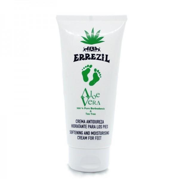 Errezil Aloe Vera Crema Idratante Anti-Durezza per i Piedi 100% Barbadensis puro e melaleuca